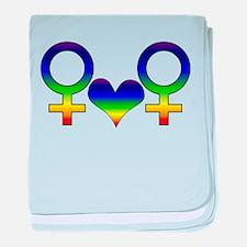 Lesbian Rainbow Symbol Infant Blanket