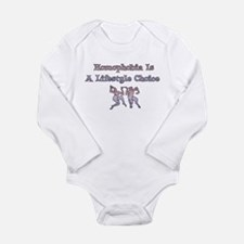 Homophobia Lifestyle Choice Long Sleeve Infant Bod