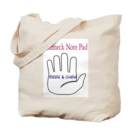 Redneck note pad Tote Bag