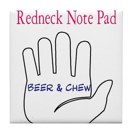 Redneck note pad Tile Coaster