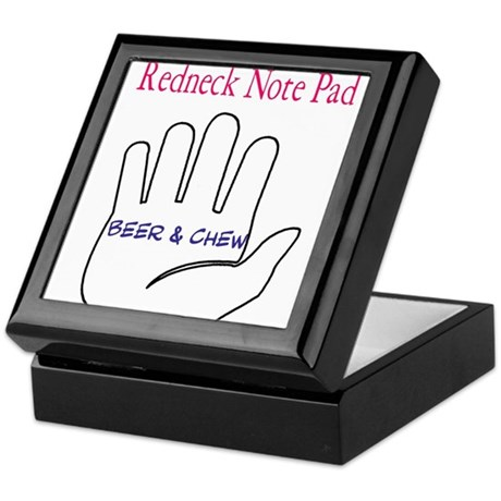 Redneck note pad Keepsake Box