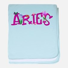Aries Flowers baby blanket