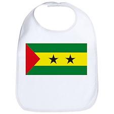 Sao Tome Principe Flag Bib