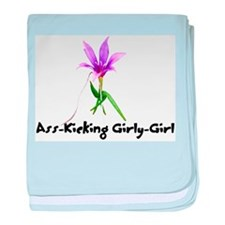 Ass-Kicking Girly-Girl Infant Blanket