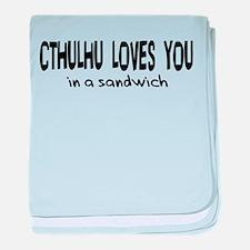 Cthulhu Loves You Infant Blanket
