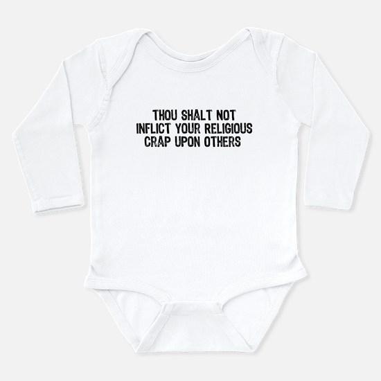 Anti-Religious Long Sleeve Infant Bodysuit