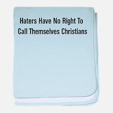 Hate Is Not Christian Infant Blanket