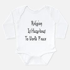 Anti-Religion Long Sleeve Infant Bodysuit