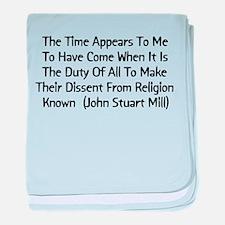 John Stuart Mill Religion Quo Infant Blanket