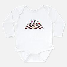 Chess Skeletons Long Sleeve Infant Bodysuit