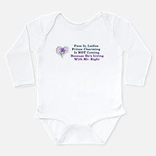 Mr. Right Long Sleeve Infant Bodysuit