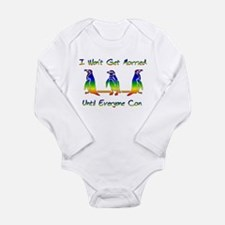 Same Sex Marriage Penguins Long Sleeve Infant Body