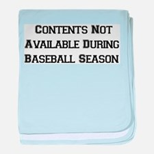 Baseball Season Infant Blanket