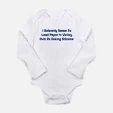 Rock Paper Scissors Long Sleeve Infant Bodysuit