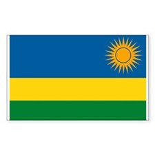 Rwanda Flag Rectangle Decal