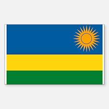 Rwanda Flag Rectangle Decal