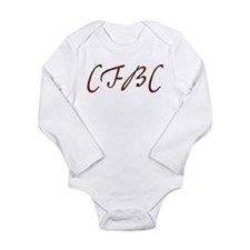 CFBC Red Logo Long Sleeve Infant Bodysuit