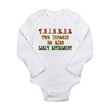 Child-Free Thinker Long Sleeve Infant Bodysuit