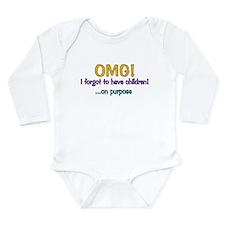 Forgot To Have Children Long Sleeve Infant Bodysui
