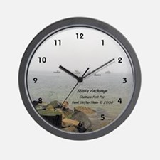 MISTY MOORING Wall Clock