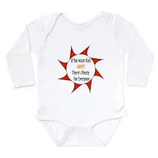 Adoption Not Overpopulation Long Sleeve Infant Bod
