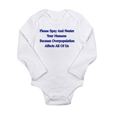 Spay And Neuter Long Sleeve Infant Bodysuit