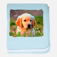 Austin, Retriever Puppy Infant Blanket