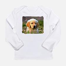 Austin, Retriever Puppy Long Sleeve Infant T-Shirt