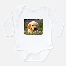 Austin, Retriever Puppy Long Sleeve Infant Bodysui