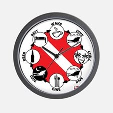Circle of Scuba Wall Clock
