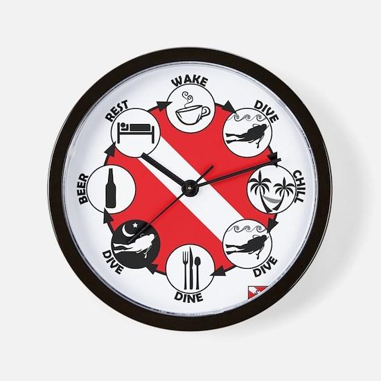 Circle of Scuba Wall Clock
