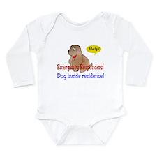 Single Dog Alert Long Sleeve Infant Bodysuit