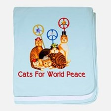 World Peace Cats Infant Blanket