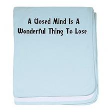 Closed Minds Infant Blanket