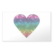 Tie-Dye Rainbow Heart Decal