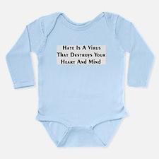 Hate Virus Long Sleeve Infant Bodysuit