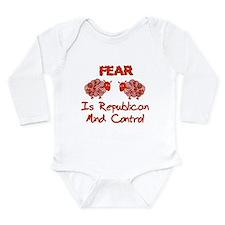 Fear Politics Long Sleeve Infant Bodysuit