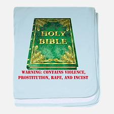 Bible Sex Violence Warning Infant Blanket