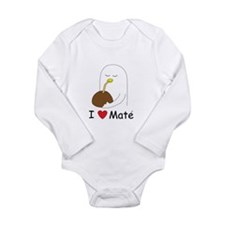 I love mate Long Sleeve Infant Bodysuit