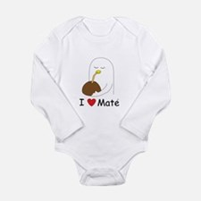 I love mate Long Sleeve Infant Bodysuit