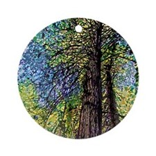TOWERING REDWOODS Ornament (Round)