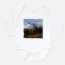 Mt. Rainier #3 Long Sleeve Infant Bodysuit