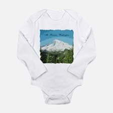 Mt. Rainier #2 Long Sleeve Infant Bodysuit