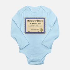 Imaginary Certificate Long Sleeve Infant Bodysuit