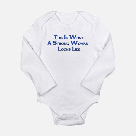 Strong Woman Example Long Sleeve Infant Bodysuit