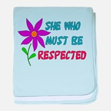 She Who Must Be Respected Infant Blanket