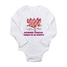 Domestic Violence Sisters Long Sleeve Infant Bodys