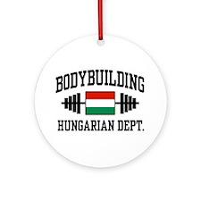 Hungarian Bodybuilding Ornament (Round)