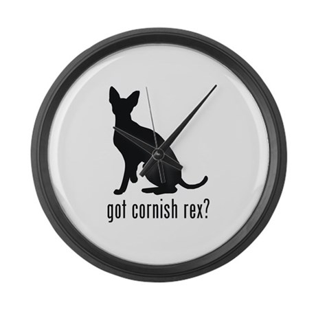 Cornish Rex Large Wall Clock