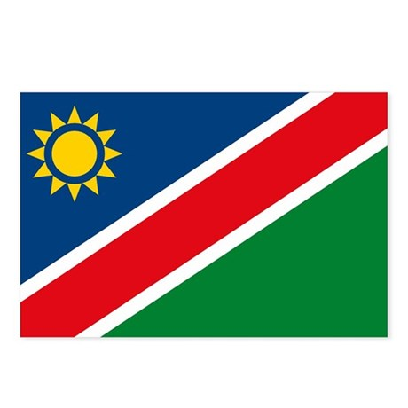 Namibia Flag Postcards (Package of 8)